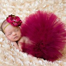 Baby Tutu Skirt Matching Headband Baby Girls Photography Props  Fashion Newborn Costume Outfit Princess TS017(China (Mainland))