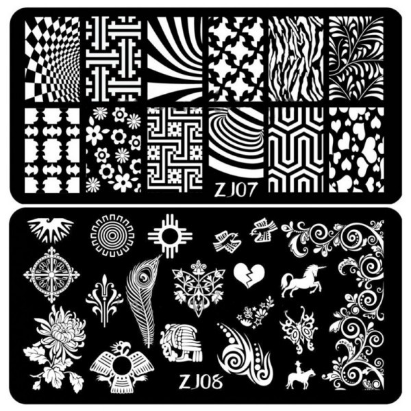 Best 12 Styles Nail Art Stamping Image Plates Stamp Metal Template DIY Decoration XM(China (Mainland))
