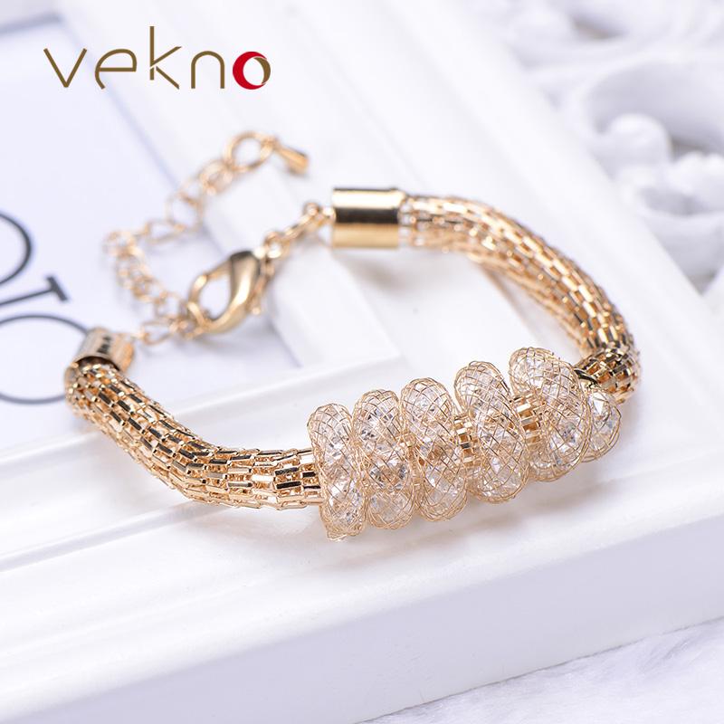 3 Color Fashion Net Mesh Gold Snake Chain Bracelet GP Jewelry Infinity CZ Diamond Stardust Bracelets For Women(China (Mainland))
