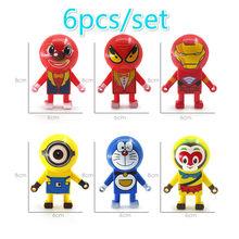 6 pçs/lote Parede Deslizante Spiderman Homem De Ferro Anti-Stress Brinquedos Piadas Engraçado Batman Joker Deslizante Parede Escalada Cool Kids brinquedos(China)