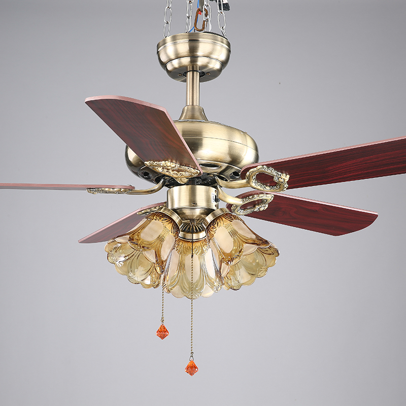 42inch european style retro ceiling fan lamp bedroom