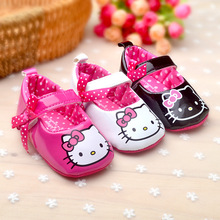 Newborn Baby Girl Shoes Cute Hello Kitty Cartoon Shoes First Walkers Baby Toddler Moccasins