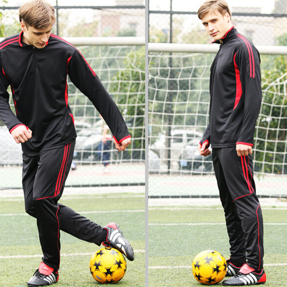 thai quality 2016 survetement football tracksuit soccer men tracksuits Training Suits free shipping blue red black green(China (Mainland))