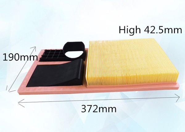 Wholesale C3880 Factory Outlet 036129620K High Quality Material Car Air Filter A1301 for SKODA 372*190*42.5mm WA9545(China (Mainland))