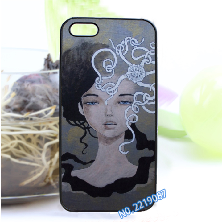 Audrey Kawasaki Art 2 fashion cover case for iphone 4 4S 5 5S SE 5C 6 6S 6plus & 6s Plus#qa30(China (Mainland))