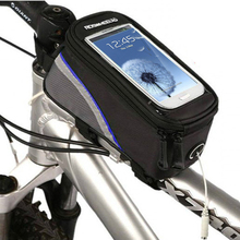 3 Size Bike Bag Bicycle Frame Pannier Bag  Front Tube Pouch Bike Phone Holder Phone Bag for iPhone 6s Plus Samsung S6 Note 5(China (Mainland))