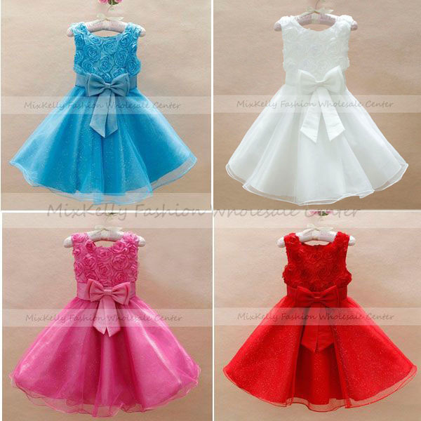 Fashion Kids formal lace dress baby clothes Baby girls Wedding Flower Bridesmaid Princess Dresses Christmas Retail tutu - MixKelly Children Clothes Center store