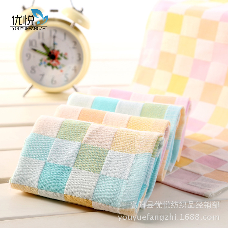 25*25CM Square Plaid Gauze Towel Baby Towel Kids Infant Towels Toddler Cotton Face Towel Hot<br><br>Aliexpress