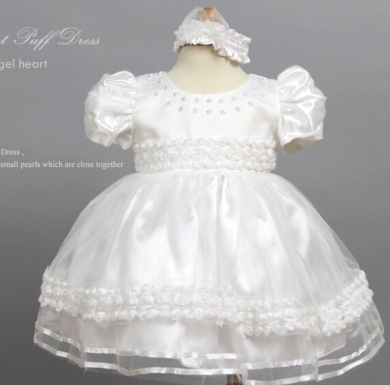 TP-1 New wholesale Imitated Silk Lace Baptism Christening Dress Baby Christening Gown robe(China (Mainland))