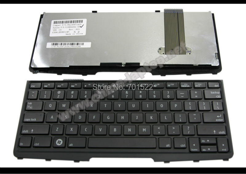 New Laptop keyboard for Nokia booklet 3G netbook Black US Version - V108502AS1(China (Mainland))