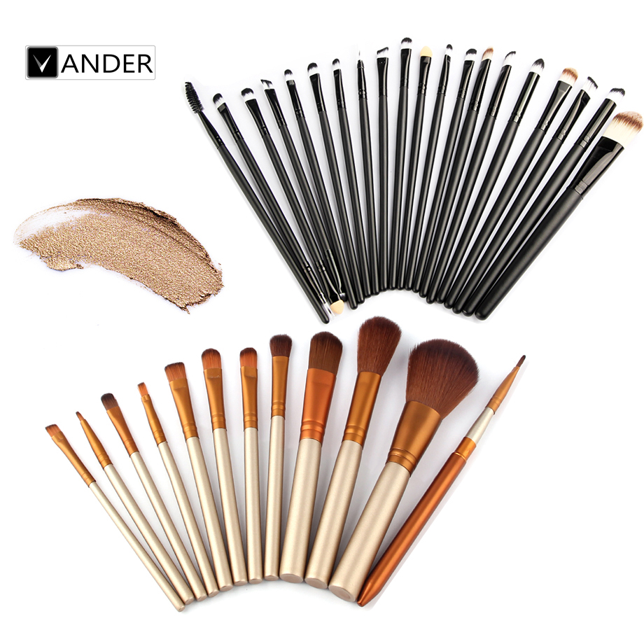 New Professional 12/20pcs Makeup Brushes Set Essential Kit Foundation Powder Make up Brush Beauty Eye Face Tools maquiagem(China (Mainland))