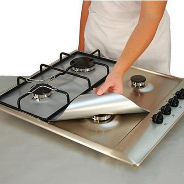 Многоразовые Easy Clean Газовая Плита Защитников Крышка Антипригарным Горелка Лайнер В Посудомоечной Машине Кухня Чистящие Средства
