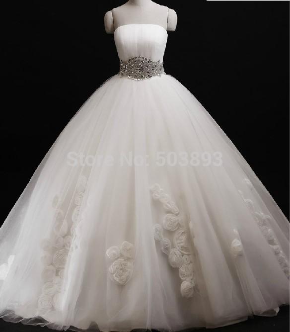 Free shipping 2014 wedding dresses bridal wedding gown for Wedding dress free shipping