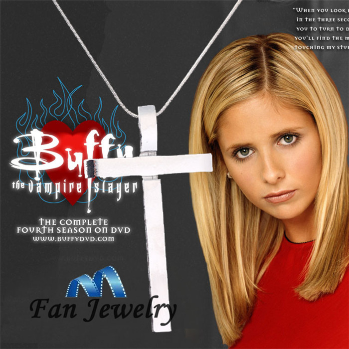 2014New classic show buffy the vampire slayer Slayers Cross Necklace DMV460<br><br>Aliexpress