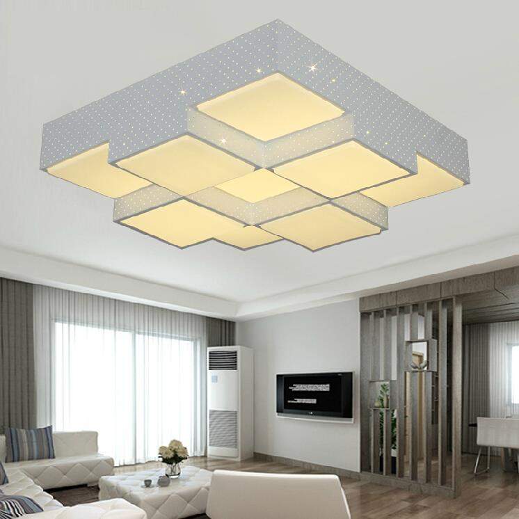 Fashion modern led square ceiling lights for living room bedroom home decoration ceiling lamp lighting light fixtures luminaria<br><br>Aliexpress