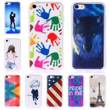 Hot 10 style High quality Soft TPU Color Printing Back Cover Case For iphone 5c cover 4.0″ Mobile Phone Skin