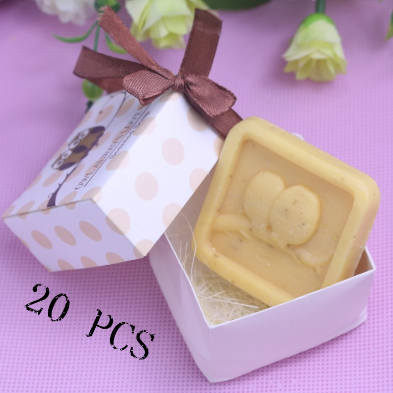 20Pcs Home party Favor Gift Owl Always Love You Scented Soap For Baby Shower Christening Wedding Favour Bomboniere(China (Mainland))