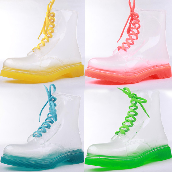 Clear Rubber Rain Boots - Boot Hto
