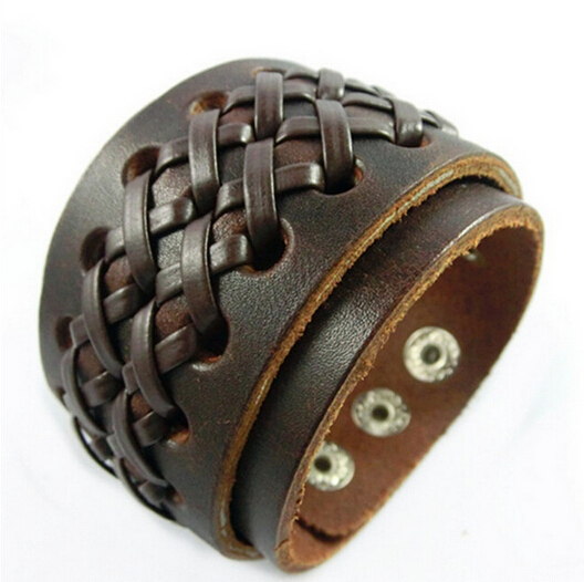 10pcs 2015 genuine leather charm bracelet Europe style cowhide bracelet wholesale cheap bracelet jewelry accessories free NSL-21<br><br>Aliexpress