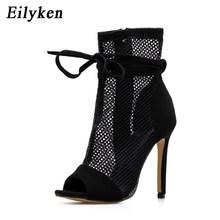 Eilyken 2019 Mới Gợi Cảm Nữ Giày Cao Gót Peep-Mũi Giày Sandal Đế Giày Sandal Mùa Hè Câu Lạc Bộ Giày Nữ Dự Tiệc giày Dép(China)