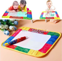 New  Water Drawing Mat with Magic Pen 72x49CM 4 Color KidsToy GiftAqua Writing Painting Doodle Board free shipping