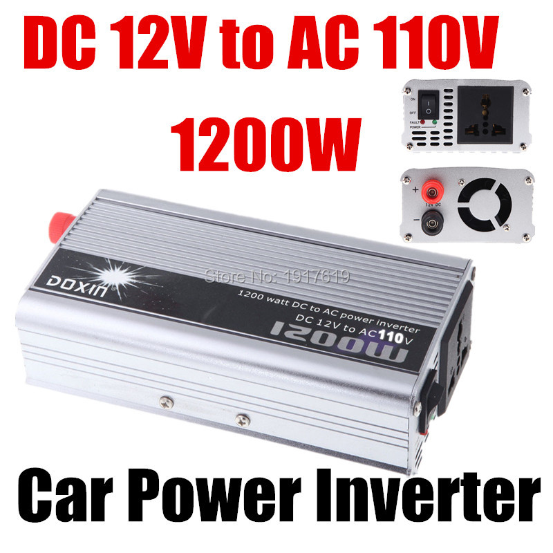1200W WATT DC 12V to AC 110V Portable Car Bus Motorcycle Voltage Power Inverter Converter Adapter Charger Converter Transformer(China (Mainland))