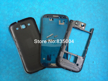 Replacement Parts for galaxy s3 i9300 housing full set Cover Carcase case siii Accessories(China (Mainland))