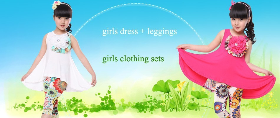 girls clothing sets wqw80-99 (1)
