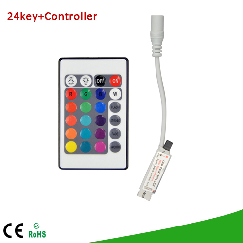 1Pcs DC 12V 24 Keys IR Remote Controller / Control RGB Colors Dimmer For SMD3528 SMD5050 LED Strip light free shipping(China (Mainland))