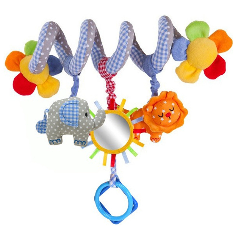 Newborn Baby Rattles Infant Music Educational Toys Cute Spiral Activity Stroller Car Seat Cot Lathe Hanging Babyplay Travel Toys(China (Mainland))