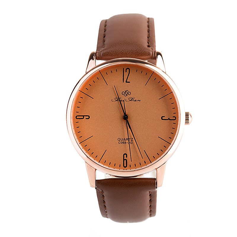 famous brand women casual watch men brown leather band quartz wristwatches relogio masculino dress watch clock hours waterproof(China (Mainland))