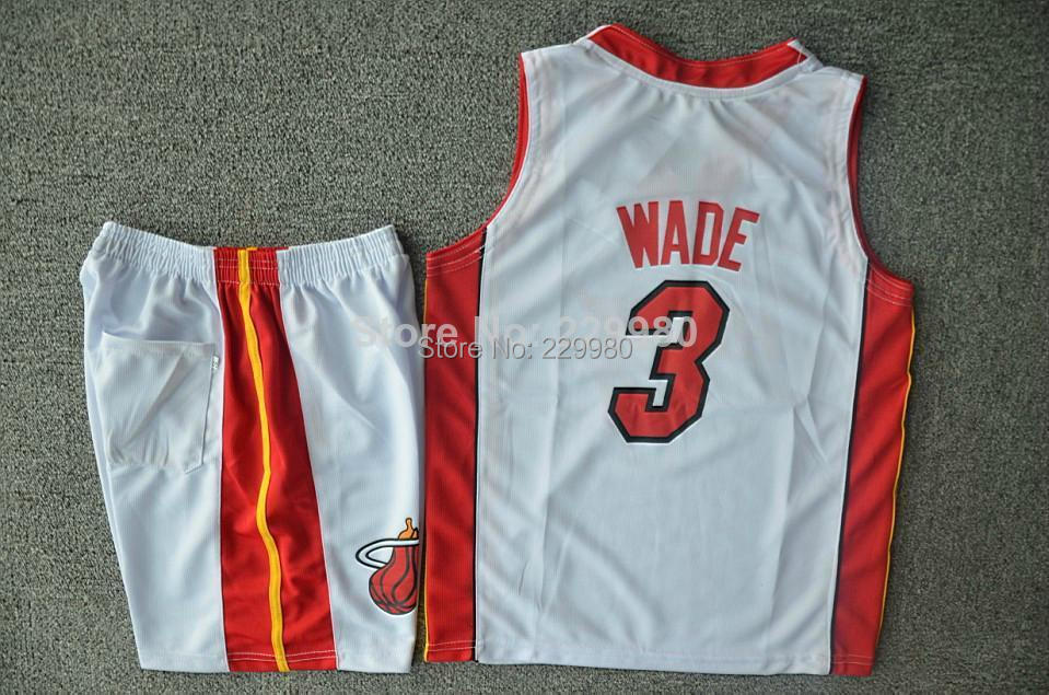 Hot 3Colors Kid's Childrens Boys Girl's Basketball Jersey Suits Clothing Set Shirt + Shorts Print #3 - Children Jerseys store
