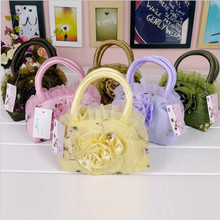Mini colorful makeup bag fashion coin purse phone bag girl's lace handbag(China (Mainland))