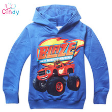 New 2016 boys t shirt t-shirts kids baby Blaze And The Monster Machines children clothing clothes roupas infantis menino(China (Mainland))