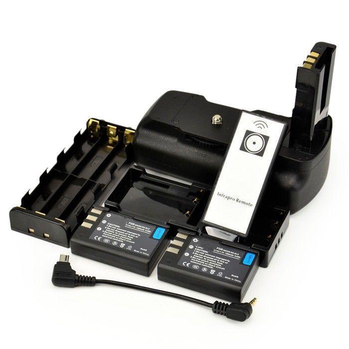 D5000 Battery Grip + IR Remote Control + 2x EN-EL9 Batteries for Nikon D5000 D3000 D40 D40X D60 Cameras.(China (Mainland))