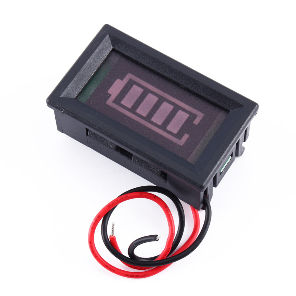 1Pcs 12v Acid lead batteries indicator Battery capacity digital LED Tester Voltmeter(China (Mainland))