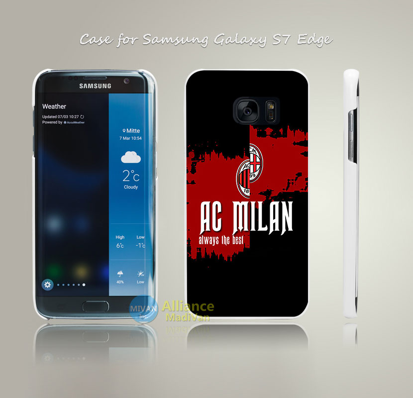 Ac Milan BLACK Always the best Print Hard White Case Cover for Samsung Galaxy S4 S5 S6 S7 Edge Plus +(China (Mainland))