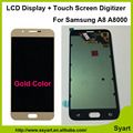 1Pcs Gold Tested Working LCD Display Touch Screen Digitizer Assembly For Samsung Galaxy A8 A8000 A800F