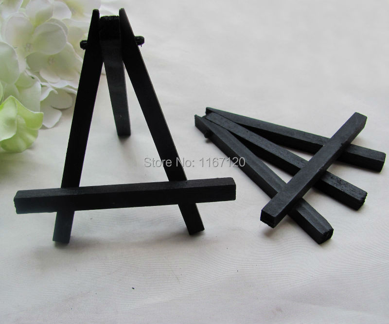 6Pcs Mini Black Display Miniature Easel Wedding Table Number Place Name Card Stand 11*10cm(China (Mainland))