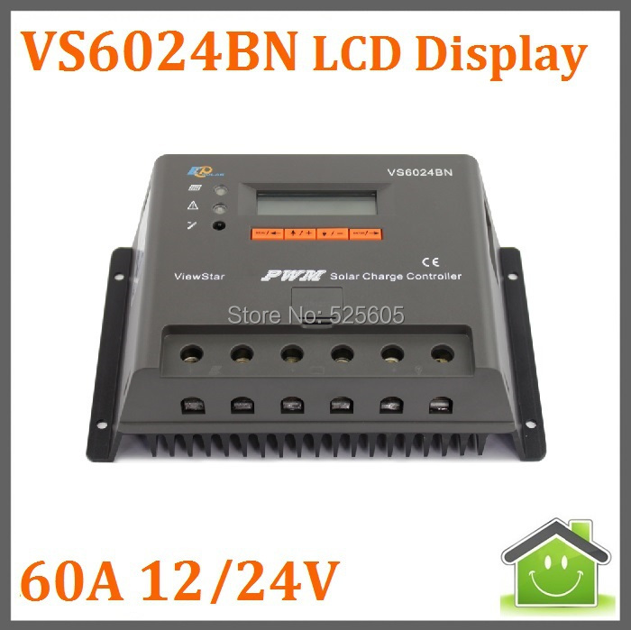 VS6024BN PWM 60A solar controller with LCD dispaly for solar home system(China (Mainland))
