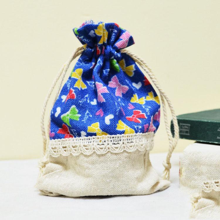 Bolsa Del Embrion Pequeña : Floral bolsa de cord?n algod?n peque?a del bolso