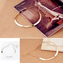 Buy LNRRABC 1 Pc Women New Simple chocker Necklace Metal Chain kolye Punk Necklace Fashion Jewelry Gift for $1.18 in AliExpress store