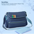 New Arrival Large compacity Antimicrobial Baby Diaper Bags Fashion Baby Bags Waterproof Nappy Bags Mommy Messenger