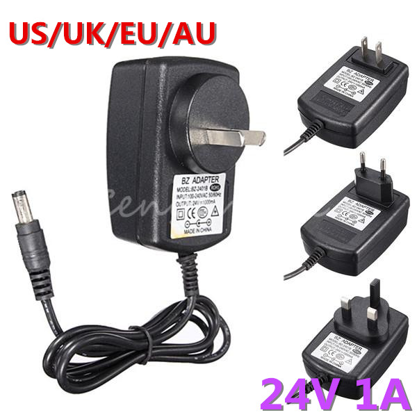 Good AC Converter Adapter for DC 24V 1A Power Supply Charger for LED Strip Light CCTV