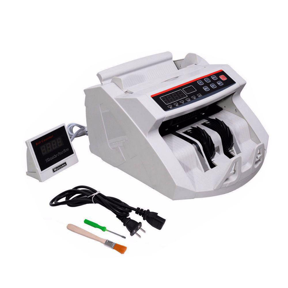 New LCD Display Money Bill Counter Counting Machine Counterfeit Detector UV & MG Cash Bank C0041(China (Mainland))