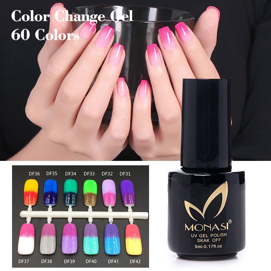 2016 Monasi Gel de Color New Product Super Gel Color Temperature Change Nail Gel Thermal 1PCS Hard Gel Artist Makeup Women(China (Mainland))