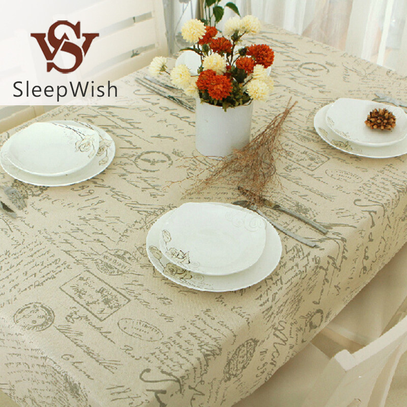 SleepWish Tablecloth Letters European Spandex Table Covers Qualified Table Cloth For Wedding Party 9 Sizes(China (Mainland))