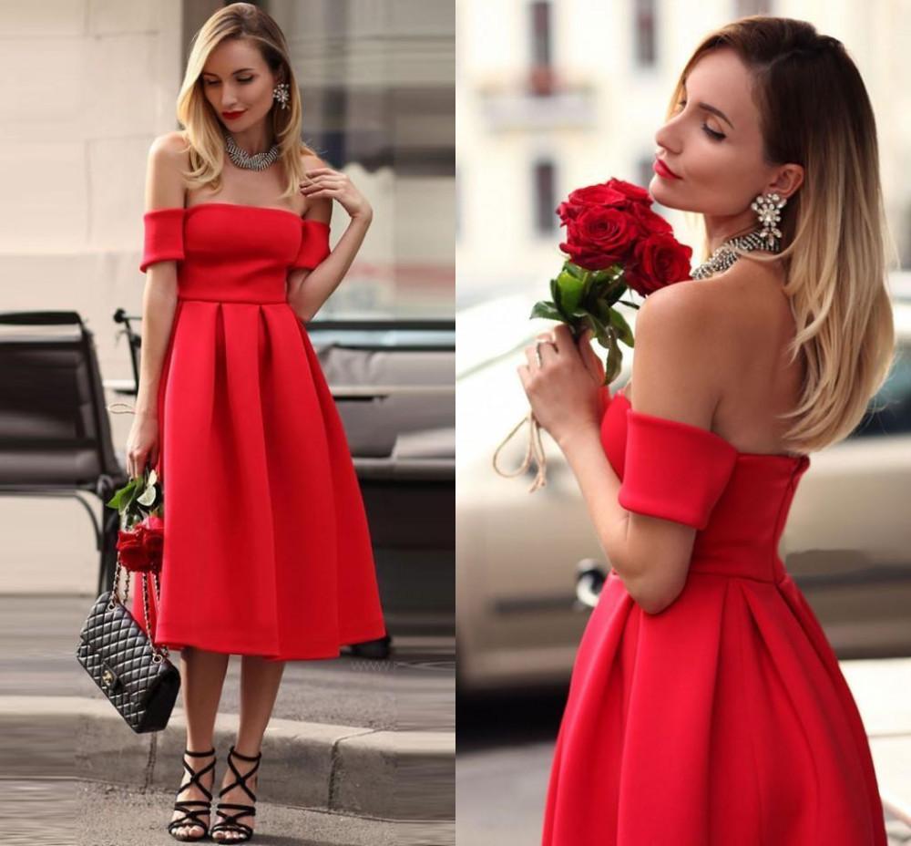 vestido de festa curto tomara que caia vermelho