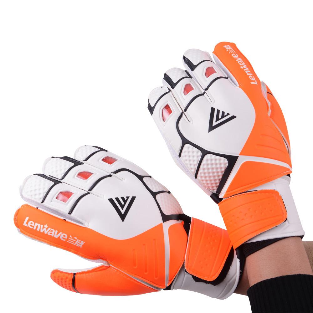 Men Football Gloves Goalkeeper Predator Allround Latex Goalkeeper Gloves For Kids Training Soccer Gloves(China (Mainland))
