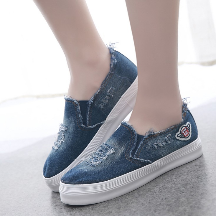 2016 new arrival  adult  women shoes cut out flat lace up rubber sole denim canvas casual shoes<br><br>Aliexpress